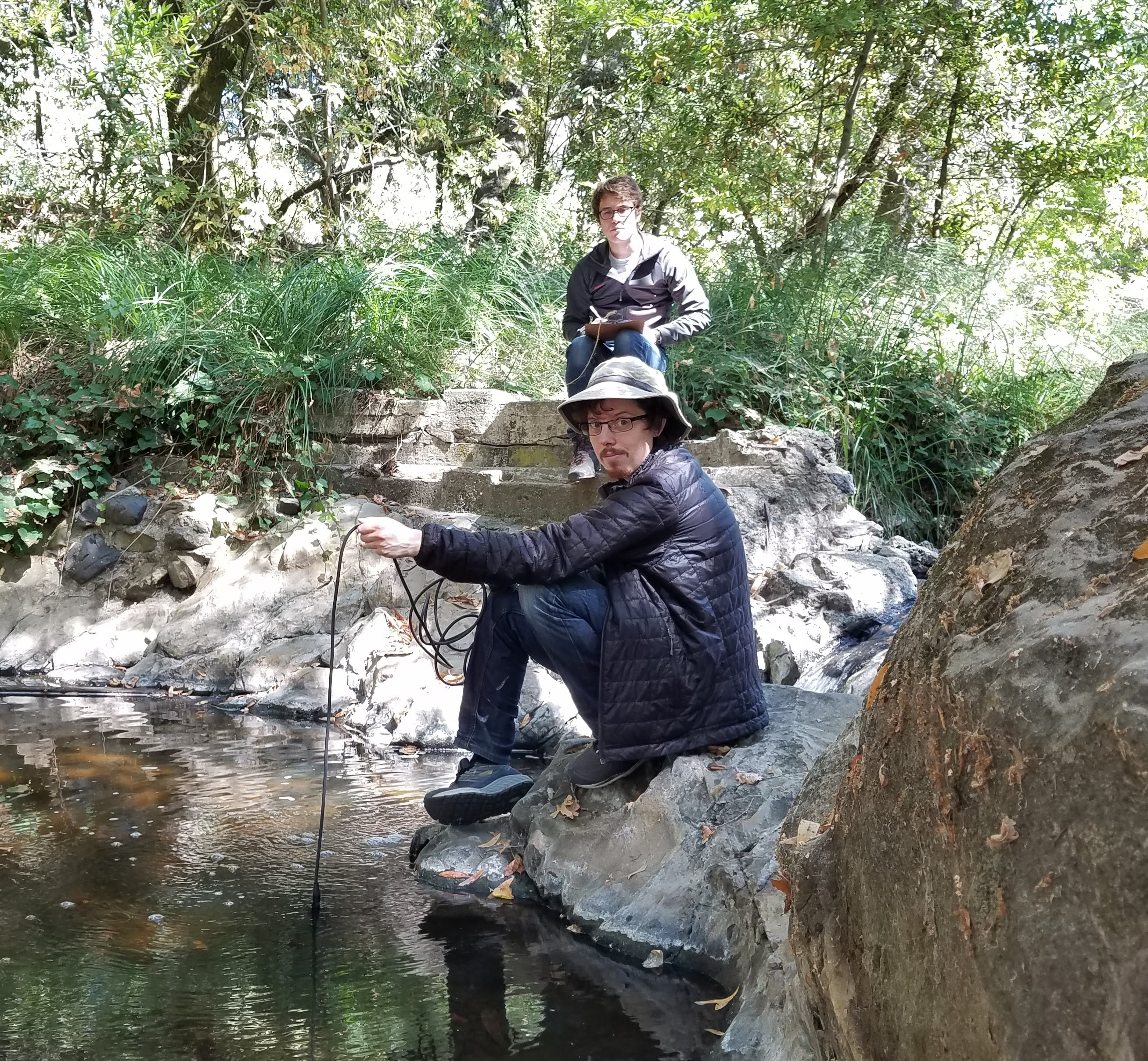 The Watershed Project staff monitor San Pablo Creek site