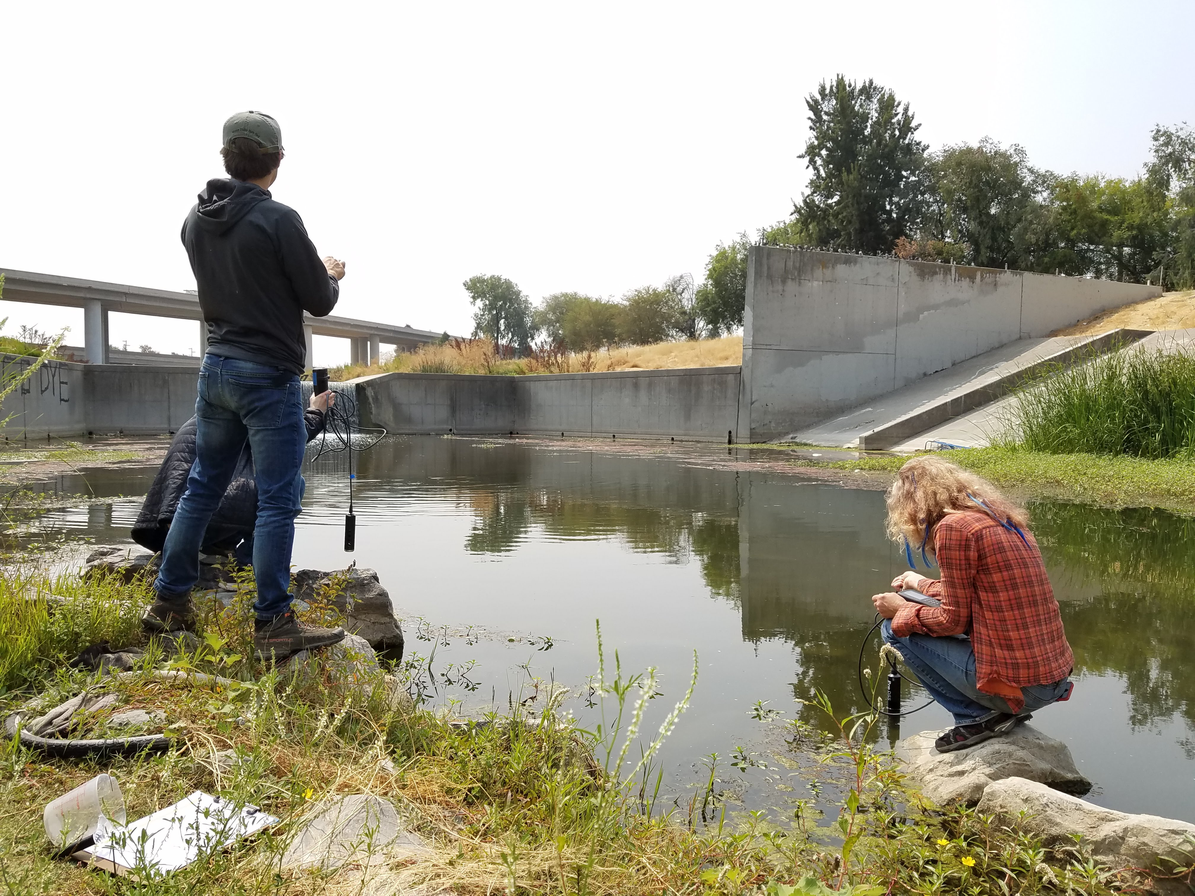 The Watershed Project staff and volunteers monitor Walnut Creek site